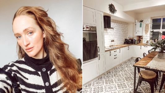 Woman quoted £15k for a new kitchen does a DIY transformation for just £150