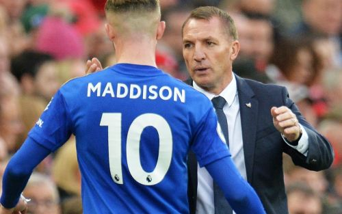 Leicester manager Brendan Rodgers backs James Maddison over casino visit