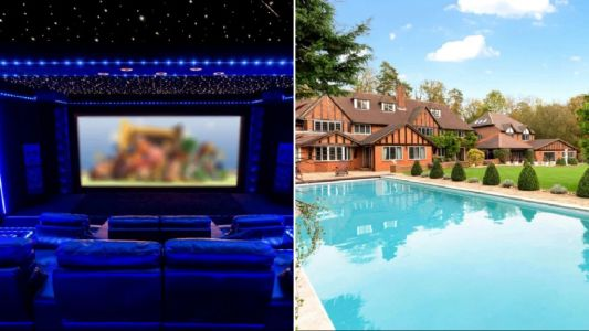 Incredible mansion with £1 million home cinema goes on sale
