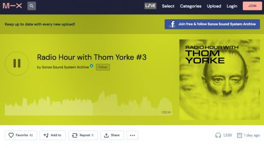 Sonos Radio's third and final Thom Yorke mix is now available