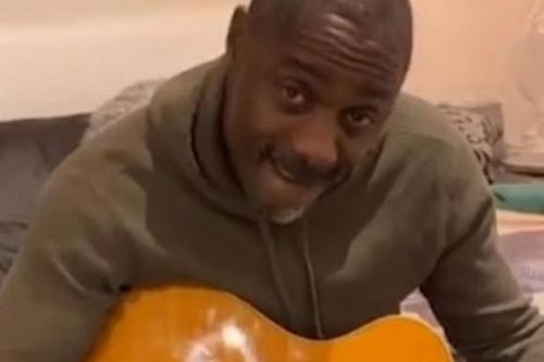 Idris Elba plays guitar in his pants during coronavirus isolation with his wife