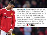 Cristiano Ronaldo insists Manchester United fans 'deserve much better' after Liverpool thrashing