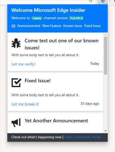 Edge-on-Chromium approaches; build leaks, extensions page already live