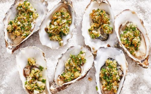 Oysters with parsley butter recipe