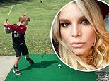 Jessica Simpson is a proud mom as she shares video of son Ace taking a swing on a golf course