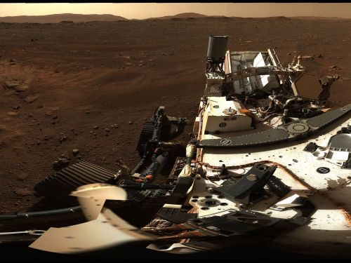 NASA just unveiled a high-def, 360-degree panorama of Mars from the Perseverance rover. It's made from 142 photos