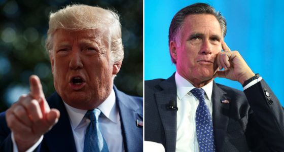 Trump lashes out at Mitt Romney and the press as impeachment inquiry intensifies