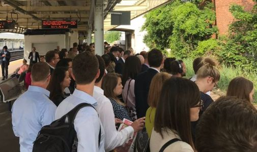 Rail strike: Passengers hit by travel chaos with huge queues and rammed trains