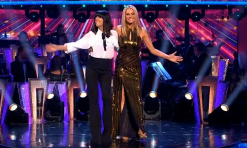 Strictly's Tess Daly and Claudia Winkleman wow in sequinned Galvan dress and Zara shirt for live final