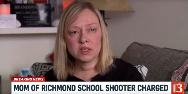 A 14-year-old boy shot his way in to a school before turning the gun on himself. Now his mother is facing 6 felony charges
