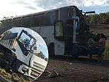 Horror crash between truck and bus in Brazil leaves more than 40 people dead