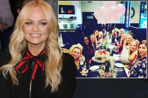 Emma Bunton enjoys glitzy birthday meal with Holly Willoughby and Tamzin Outhwaite