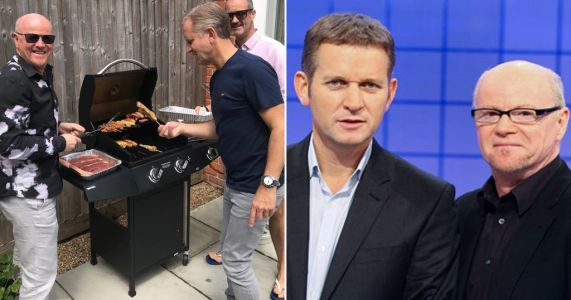 Jeremy Kyle celebrates 55th birthday with show's former psychotherapist Graham Stainer as they enjoy BBQ