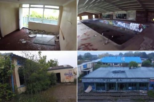 Inside abandoned Pontins left to rot and become swallowed by nature