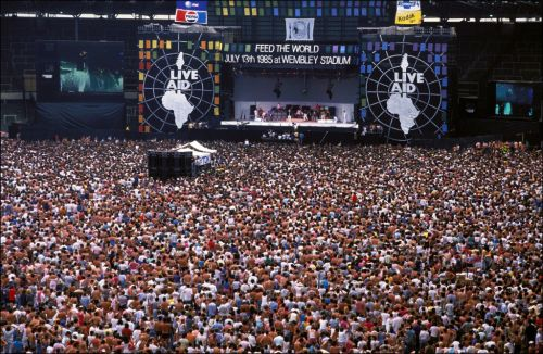 When was Live Aid, who was in the lineup and how much did they raise?