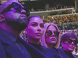 Kim and Khloe Kardashian join Kanye West and Kris Jenner as they mourn family friend Kobe Bryant