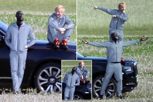Stormzy gets over Maya Jama split by having a laugh with pal Ed Sheeran on video shoot