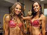 Bodybuilders show off their impressive physiques at World Beauty Fitness and Fashion competition