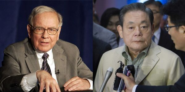 Samsung's billionaire chairman died on Sunday. He once counted Warren Buffett as a shareholder