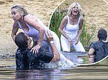 James Argent and Anthea Turner film The Real Dirty Dancing in Norfolk