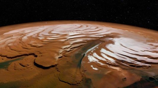 Scientists spot buried remnants of polar ice sheets on Mars