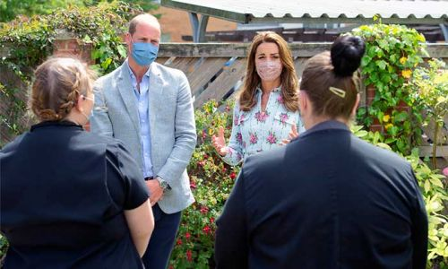Prince William and Kate Middleton left in stitches after care home resident pokes fun at them