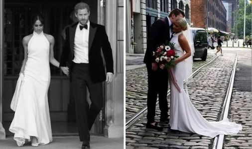 Meghan Markle's stylist friend dresses bride in SAME dress as Duchess wore at her wedding