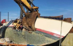 What happens to boats too old to save? The truth about fibreglass boat disposal