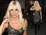 Donatella Versace, 66, wows in a glittering mini dress for her latest star-studded fashion party