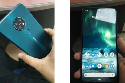 Nokia 7.2 real life images appear online in lovely cyan colour