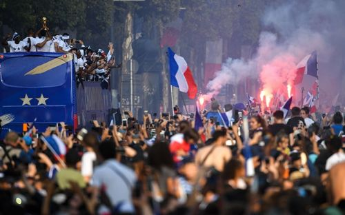 Victorious France squad welcomed home as heroes following World Cup win