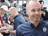 Andres Iniesta touches down in Japan following move to Vissel Kobe