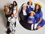 Vanessa Bryant celebrates Halloween with her daughters in Star Wars and Madeline costumes