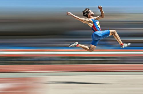 Blind long jumper makes giant leap in stunning pic from photography 'heroes' of the year competition