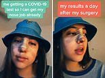 Teen reveals she tested POSITIVE for COVID-19 the day after getting a nose job