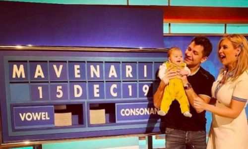 Rachel Riley's daughter Maven makes adorable Countdown debut with her proud parents