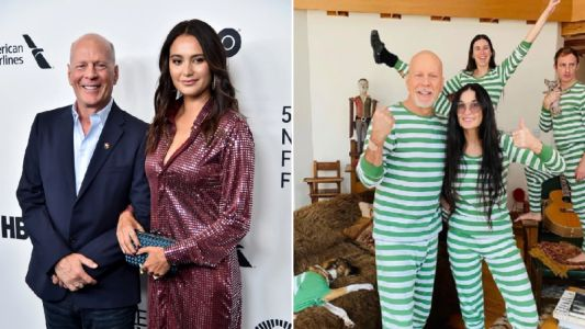 Bruce Willis's wife Emma Heming chimes in on photos with ex-wife Demi Moore as they isolate separately