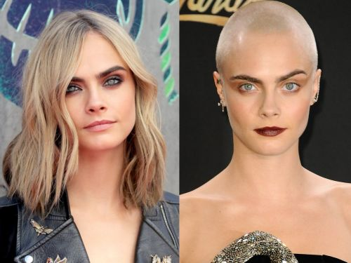 What 12 celebrities look like with and without shaved heads