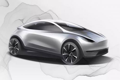 New baby Tesla previewed in official design sk