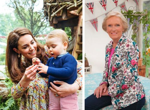 Kate Middleton revealed one of Prince Louis' first words was 'Mary,' because of all the former 'Great British Baking Show' judge Mary Berry's cookbooks in her kitchen
