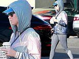 Katy Perry dazzles in shiny hoodie as she steps out in sweats for coffee