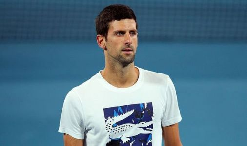 Novak Djokovic reacts after Rafael Nadal shows him the middle finger at Australian Open
