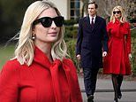 Ivanka dons a bright red coat to watch President Trump sign North American trade deal