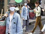 Vanessa Paradis steps out with son Jack, 18, as they pack the car to leave Paris