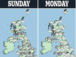 UK weather: Storm Ernesto brings weekend washout to the north