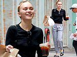 Lily-Rose Depp enjoys a cheat day as she picks up fast food during makeup free outing