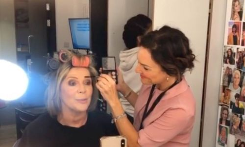 Loose Women star Ruth Langsford gets glamorous makeover with swept-back hair
