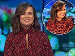 Lisa Wilkinson wears ANOTHER high neck red dress on The Project