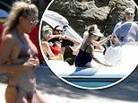Kate Hudson slips into string bikini for a family cruise in the Aegean Sea during Greece trip