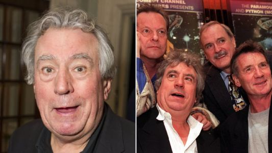 Monty Python share laughs together in poignant tribute to Terry Jones following his death aged 77 from dementia